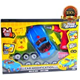 Kids Take Apart Toy Racing Car, Build It Toys for Boys and Girls, 30 Pieces Pull Apart Kit for Toddlers with Electric Drill Tool Screwdriver and Real Sounds and Lights, With Storage Bags, & Batteries