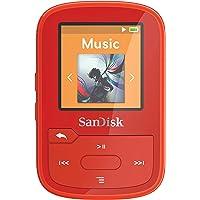 SanDisk SDMX28-016G-G46R Clip Sport Plus MP3 Player, 16GB (Red)