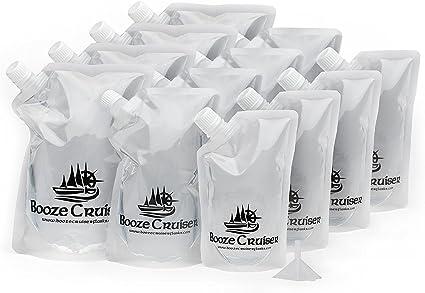 Licor Cruiser Flask Set perfecto para expediciones y viajes o cualquier lugar quieres un camino de Ron Cocktail – Frasco de plástico Kit (4 x, 4 x,, 4 ...