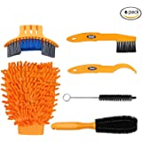 Tagvo 6pcs Bike Cleaning Tool Set, Bicycle Clean Brush Kit for Bike Chain/Tire/Sprocket Cycling Corner Stain Dirt Clean -- Fit for All Bike