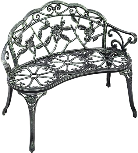 Giantex Outdoor Garden Bench Iron Patio Benche