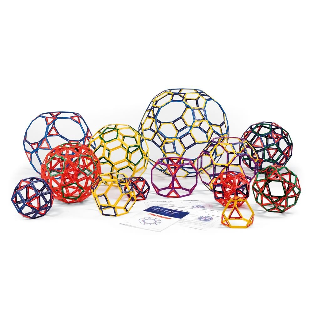 Polydron Frameworks Open Geometric Shapes (Set of 160 pieces in 6 shapes) by Polydron