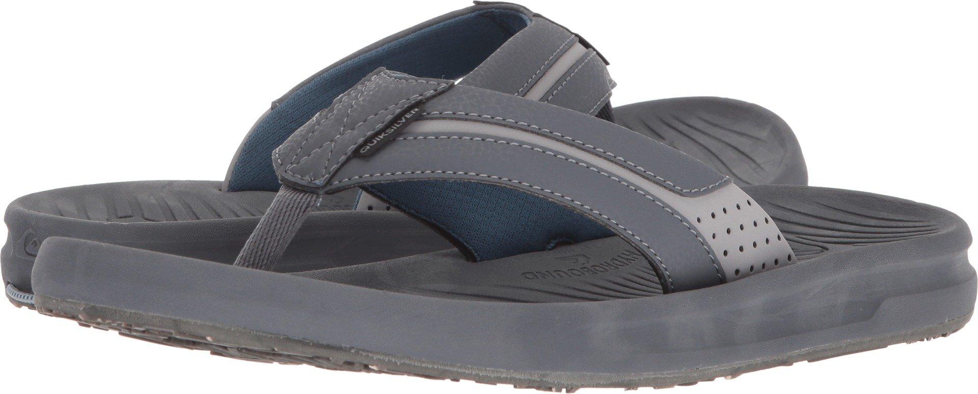 Quiksilver Men's Travel Oasis Sandal, Grey/Brown/Blue, 12 M US