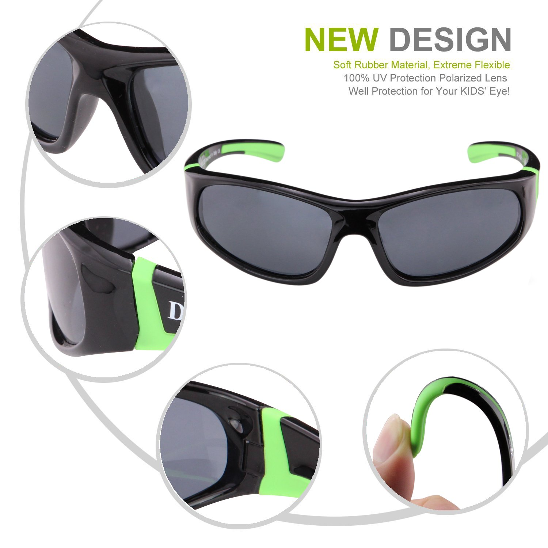 duco kids sports style polarized sunglasses rubber. Black Bedroom Furniture Sets. Home Design Ideas