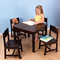 KidKraft Farmhouse Table and Chair Set (Espresso)