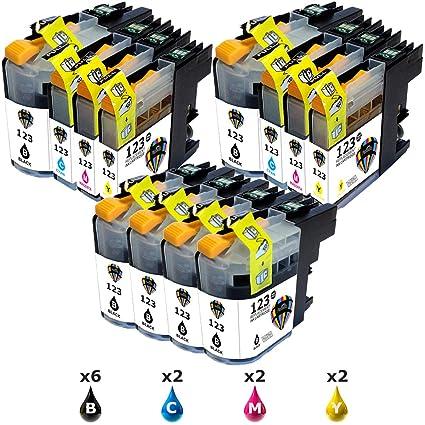 Pictech Compatible cartuchos de tinta reemplazo para Brother LC123 ...