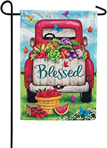 Custom Decor Blessed Truck - Garden Size, Decorative Double Sided, Licensed and Copyrighted Flag - Printed in The USA Inc. - 12 Inch X 18 Inch Approx. Size