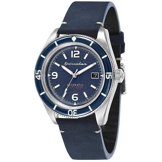 Reloj Spinnaker fleuss automática - Esfera Azul - sp-5055 - 03: Amazon.es: Relojes