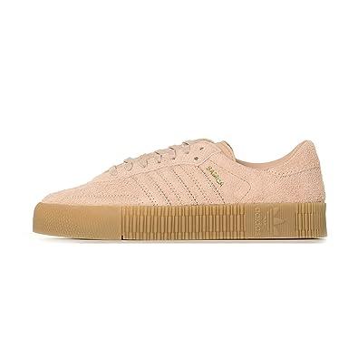 9bdb56f5523ab Amazon.com | adidas Womens Sambarose Suede Ash Pearl Gum Trainers 6 ...