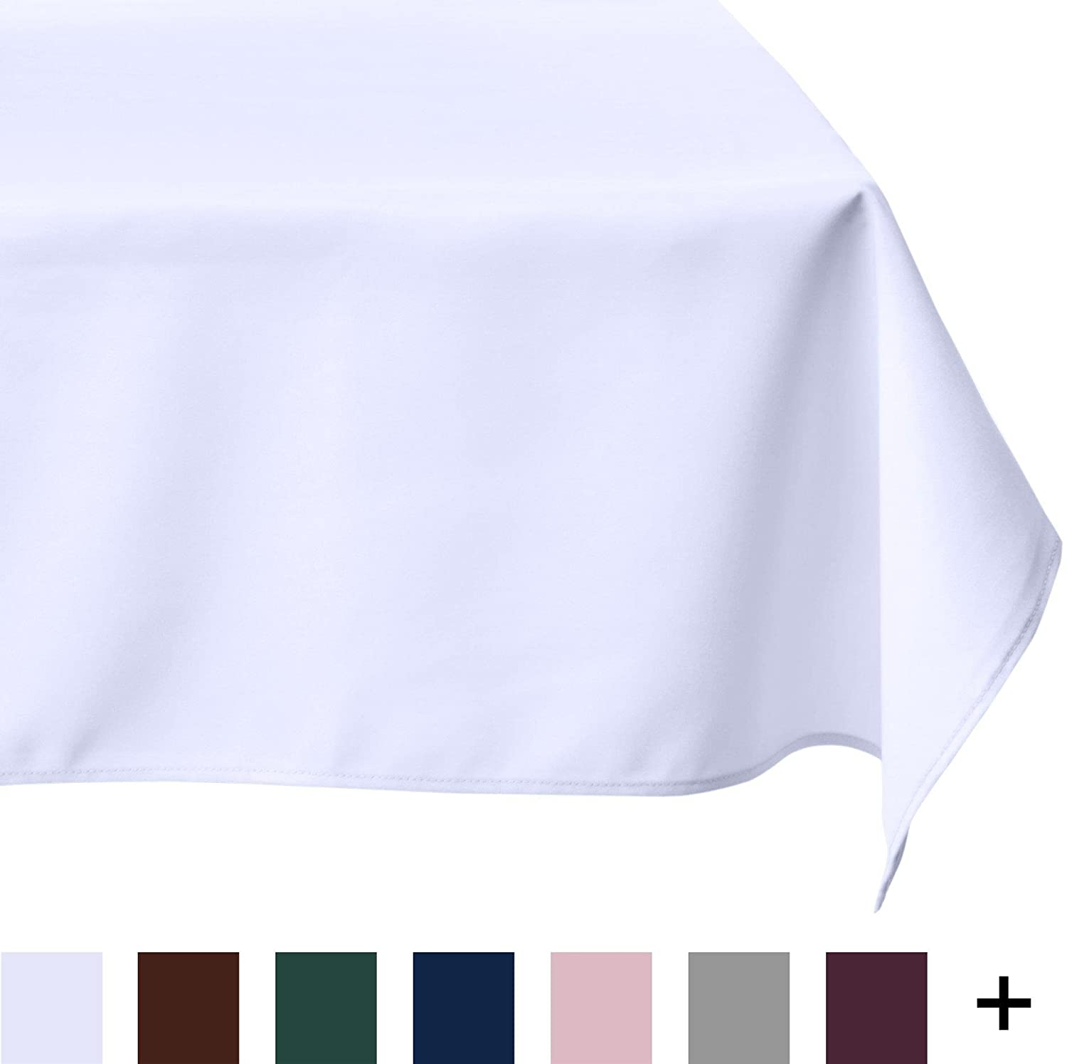 LinenTablecloth 60 X 126 Inch Rectangular Polyester Tablecloth White