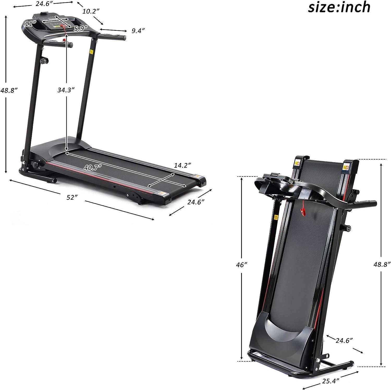 Treadmill Motorized Treadmills 1.5 HP Electric Running Machine ...