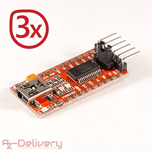 16 opinioni per AZDelivery 3x FT232RL FTDI USB a TTL modulo adattatore convertitore seriale per