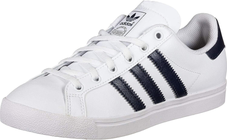 adidas Originals Coast Star J Blanco/Marina De Guerra Colegiada Cuero Jóvenes Entrenadores Zapatos