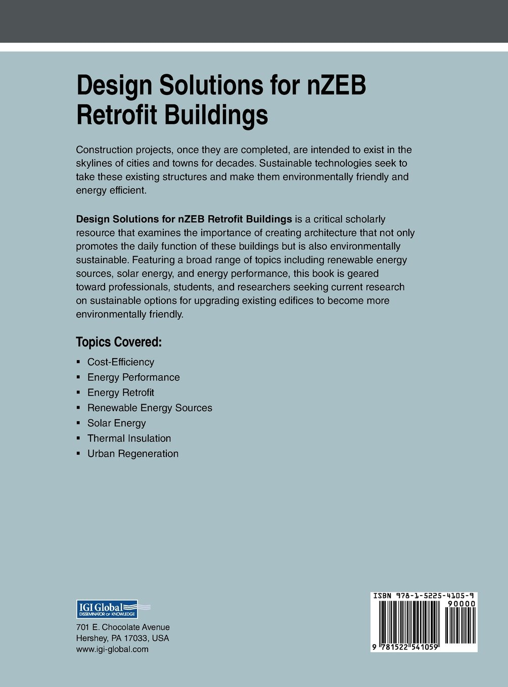 Design Solutions for nZEB Retrofit Buildings (Advances in Civil and Industrial Engineering)