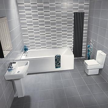Hudson Reed Badezimmerausstattung Anthem - Stand-WC, Badewanne und ...