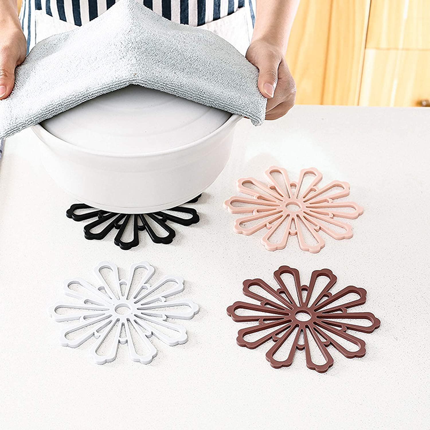 Bombing new work 3 Pcs Silicone Coasters Heat Slip Department store Resistant Non Pe and