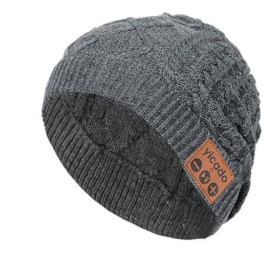 6289612be67 Bluetooth Beanie Hat Earbud Wireless Headphone Headset Earphone  Speakerphone Wireless Hands-Free Hat Sport Knit