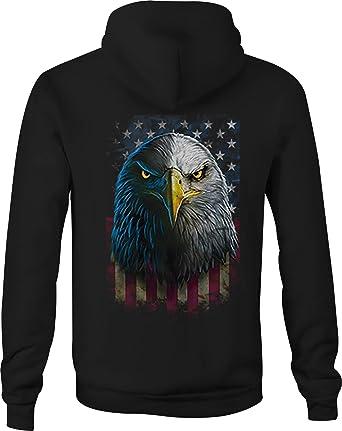 super popular 46eea ef1c7 American Zip Up Hoodie Eagles Glare Hooded Sweatshirt for ...