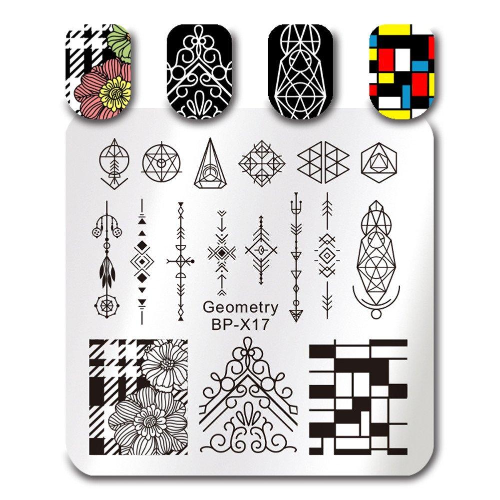 Born Pretty Plaque de Stamping French Nail Carré BP-X20