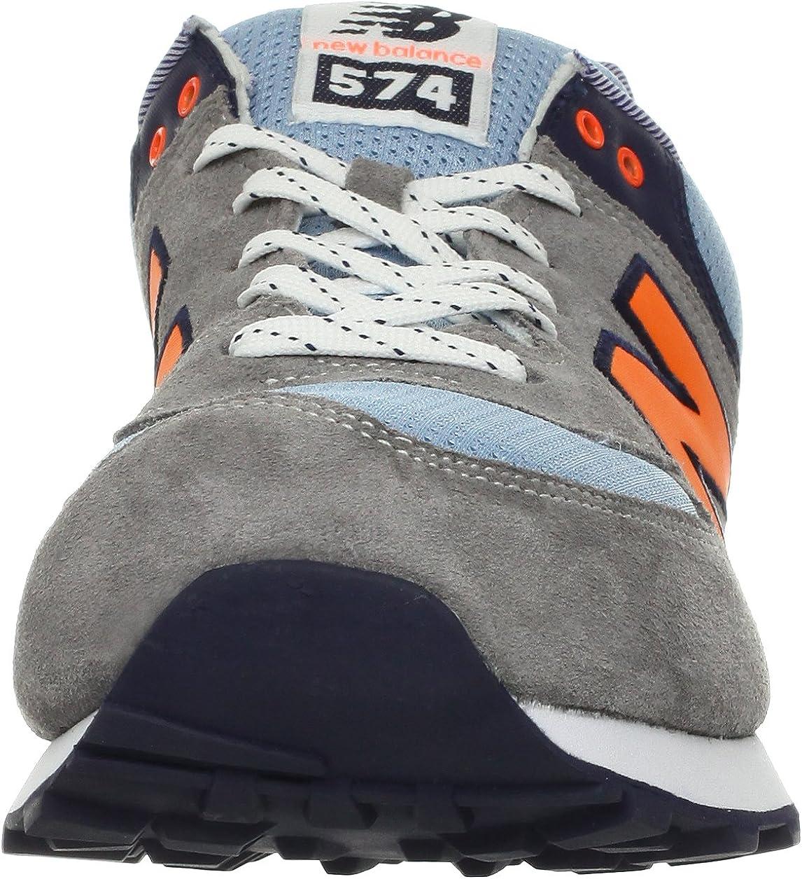 new balance 574 grigio arancione