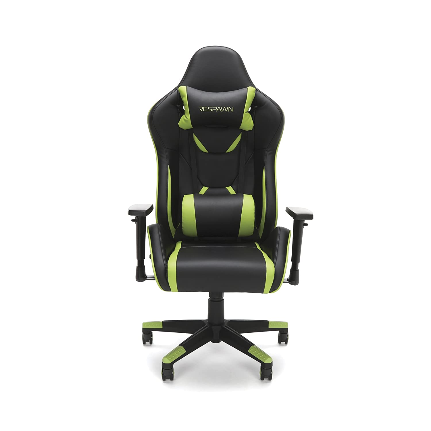 Amazon.com: RESPAWN-120 Racing Style Gaming Chair - Reclining Ergonomic Leather Chair, Office or Gaming Chair (RSP-120-GRN): Kitchen & Dining