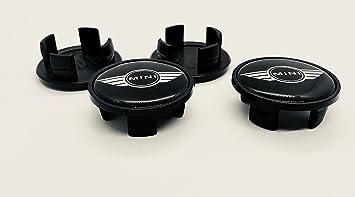 4 x Mini Wings Logo Buje tapas Buje Tapa Tapacubos aleación/Centro Nabe Caps nadadores