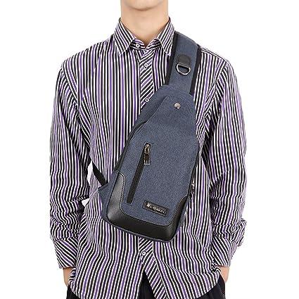 SMUNIFUR Sling Bag Water Resistant Outdoor Shoulder Chest Unbalance  Crossbody Backpack for Women Men Travel Daypack 0fa0cd24c3322