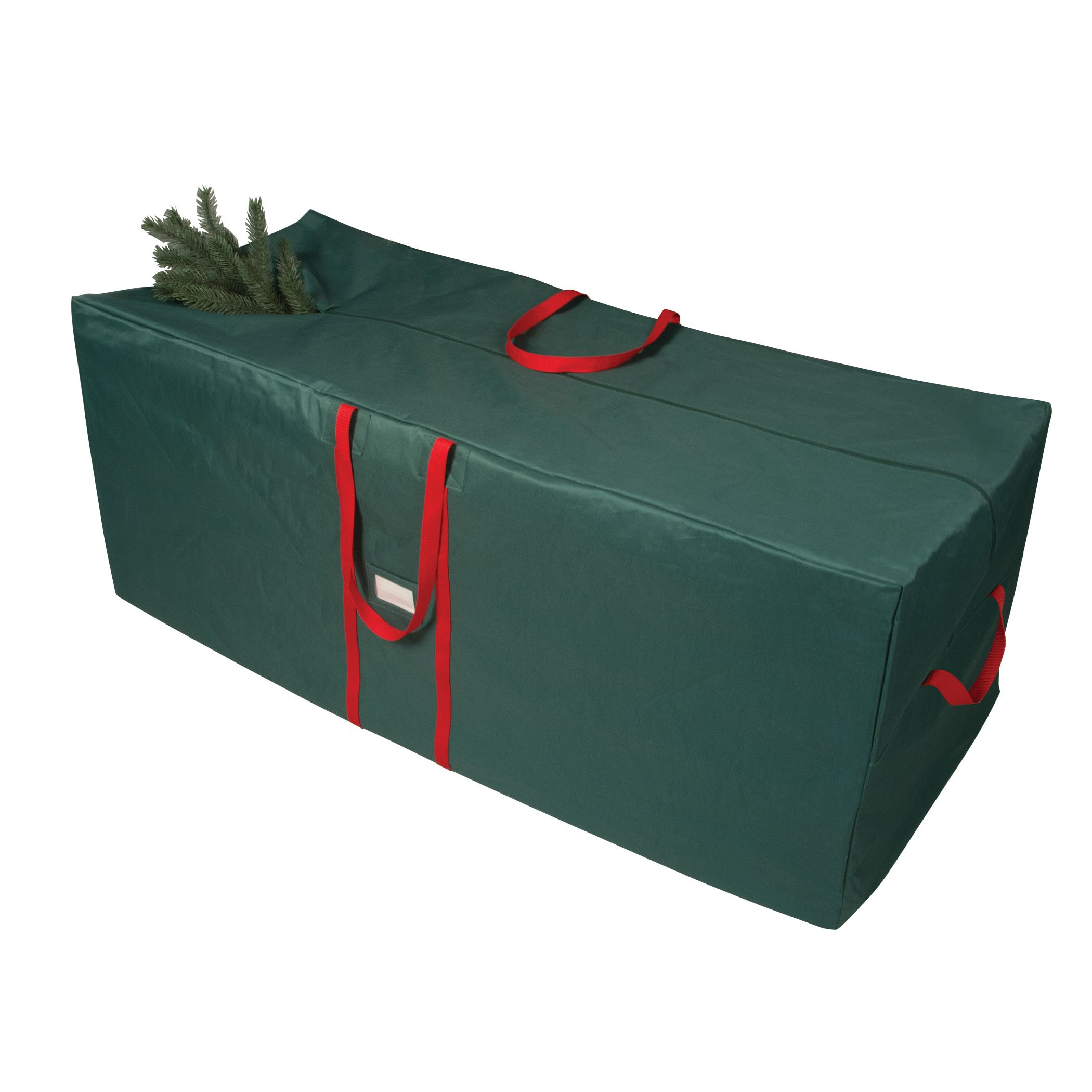 Richards Homewares Green with Red Holiday 58'' Tree Bag with Wheels and Handles