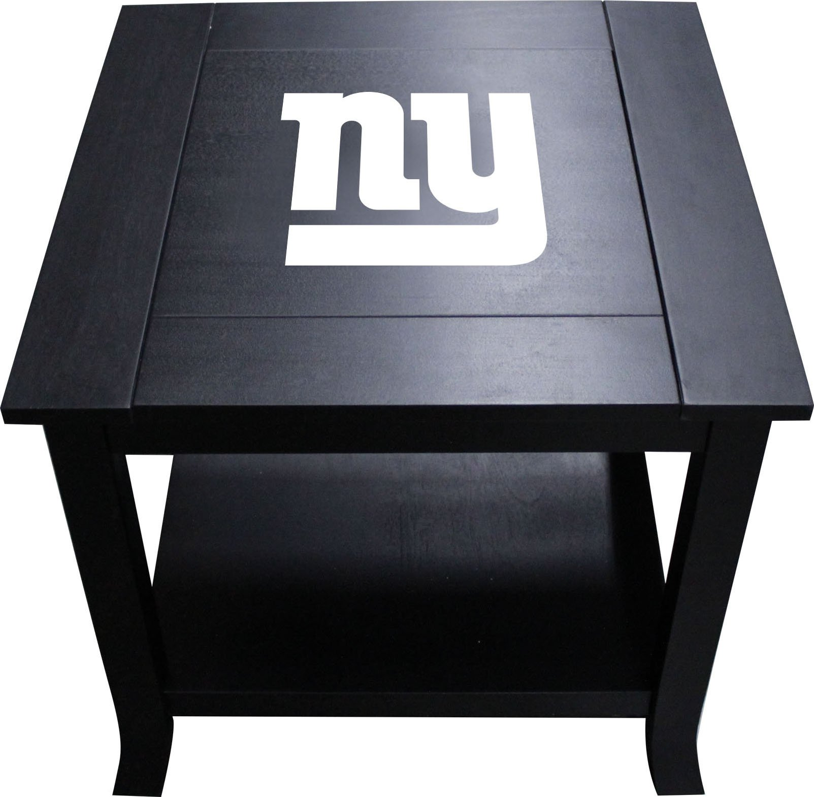 Imperial Officially Licensed NFL Furniture: Hardwood Side/End Table, New York Giants