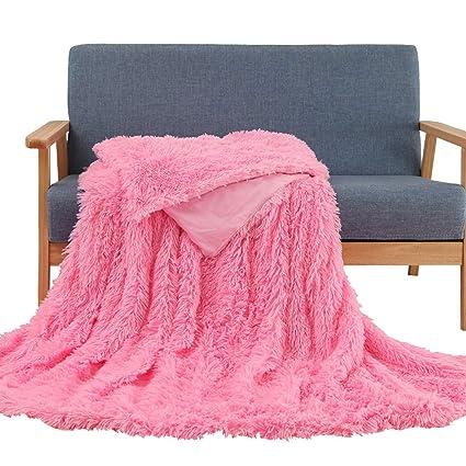 20b3c30481 Amazon.com  Faux Fur Throw Blanket