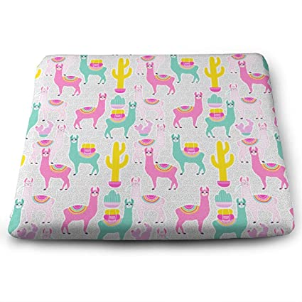 Amazon.com: Jadetian Outdoor Cute Alpaca Square Seat Cushion ...