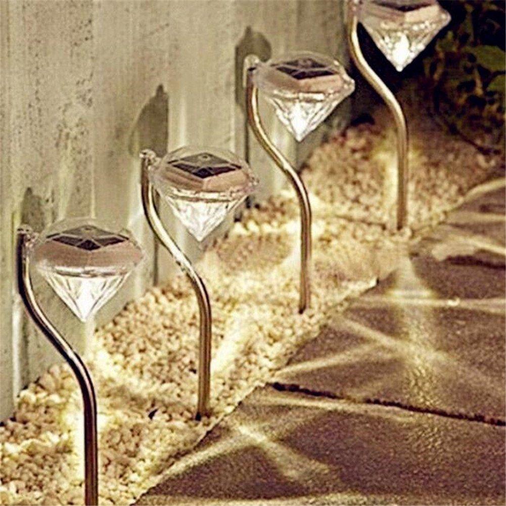 Outdoor Solar Power LED Diamond Garden,Path Wall Night Light Landscape Lamp Light