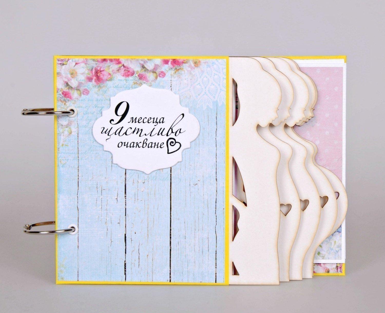 PERSONALISED PREGNANCY JOURNAL WOODEN SCRAPBOOK//PHOTO BOOK //MEMORIES