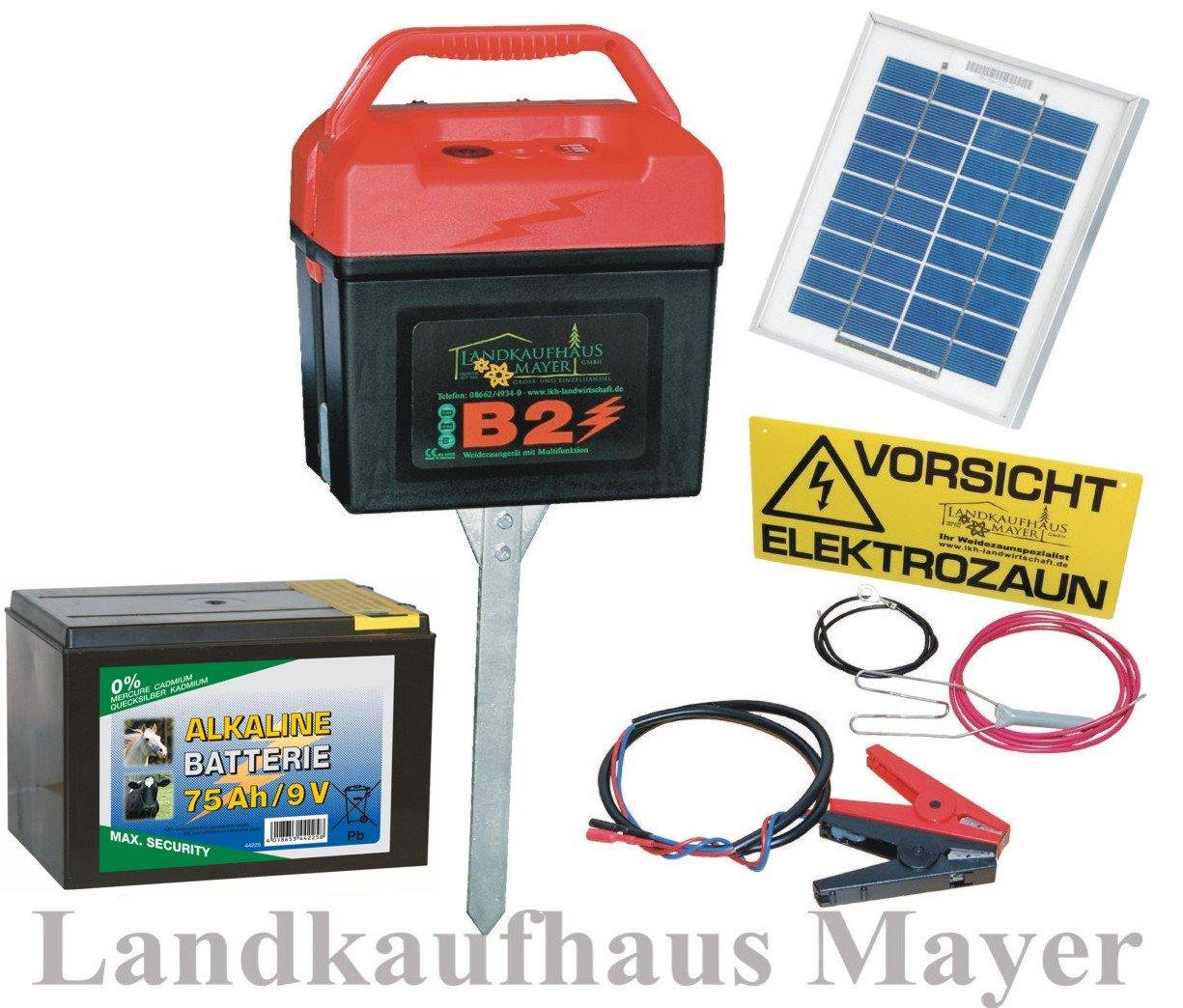 Weidezaungerät 9V 12V 230V inkl. Batterie und SOLARMODUL!!! Weidezaun