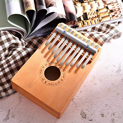 goodshare Finger Piano Kids 10 Keys Wooden Thumb Finger Piano Kalimba Musical Instrument Children Toys for Music Lover and Beginner Kids Toys Premium supportable: Home & Kitchen