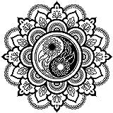 210 x 297 mm A4 8.3 x 11.7 in wei/ß wiederverwendbar A4 size Widerverwendbare PVC-Schablone Wanddekoration A5 und gr/ö/ßere Gr/ö/ßen A3 M12 Schablone mit Mandala-Blumen-Medaillon