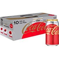Diet Coca-Cola Caffeine Free Soft Drink, Multipack Cans, 10 x 375 ml