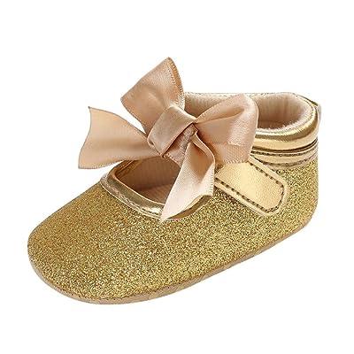 Chaussures Bébé Filles Princesse, Kolylong 2018 Enfants Bambin Fille PU Premiers Marcheurs Sandales Cuir Artificiel Crib Chaussures Simples Avec Bowknot Mignonne First Walkers