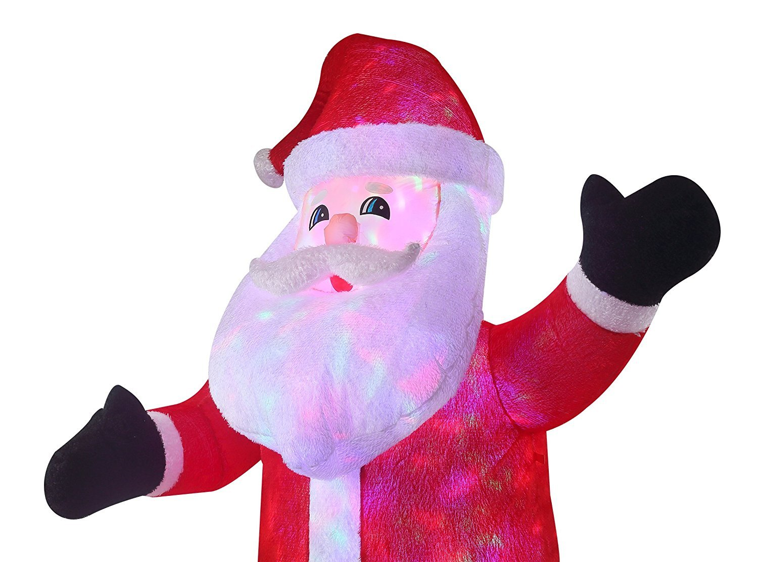 New 8 FT Inflatable Plush Santa Clause With 2pcs Disco Lights Christmas X'mas Decoration by Beyond Shop USA (Image #5)