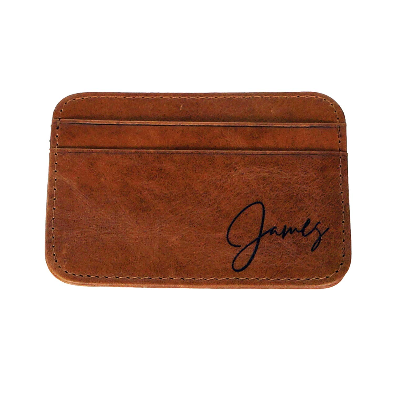 e248c981fa07 Awerise Personalized Genuine Leather Slim Credit Card Holder for Men ...