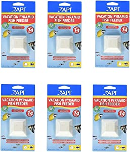 Aquarium Pharmaceuticals (6 Pack) API 14-Day Pyramid Fish Feeders