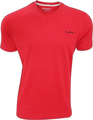 Lee Cooper - Camiseta Lisa de Manga Corta algodón Modelo Badsey ...