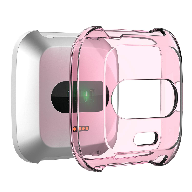 RLTech Fitbit Versa Lite Cover, Ultra Slim Morbido TPU Silicone Case di Gel AntiGraffio Protettiva Custodia per Fitbit Versa Lite 6 in 1