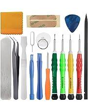 Zacro 15 en 1 Kit de Tournevis Outils Ouverture Démontage Réparation pour iPhone 4 / 4S / 5 / 5C / 5S / 6/6 Plus /7/7 Plus(GSM/CDMA) / 6S / iPad 4/3/2 / Mini, iPod, Macbook et Plus