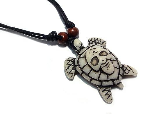 Sea turtle pendant necklace hawaiian turtle necklace wood beaded sea turtle pendant necklace hawaiian turtle necklace wood beaded with adjustable black cord aloadofball Images