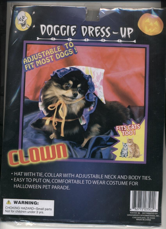 Doggie Dress Up Clown Costume by Greenbriar International