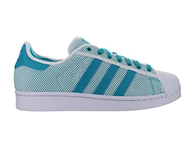 adidas Originals Men\u0027s Superstar Adicolor Fashion Sneaker, White/Shock  Green/White, 7