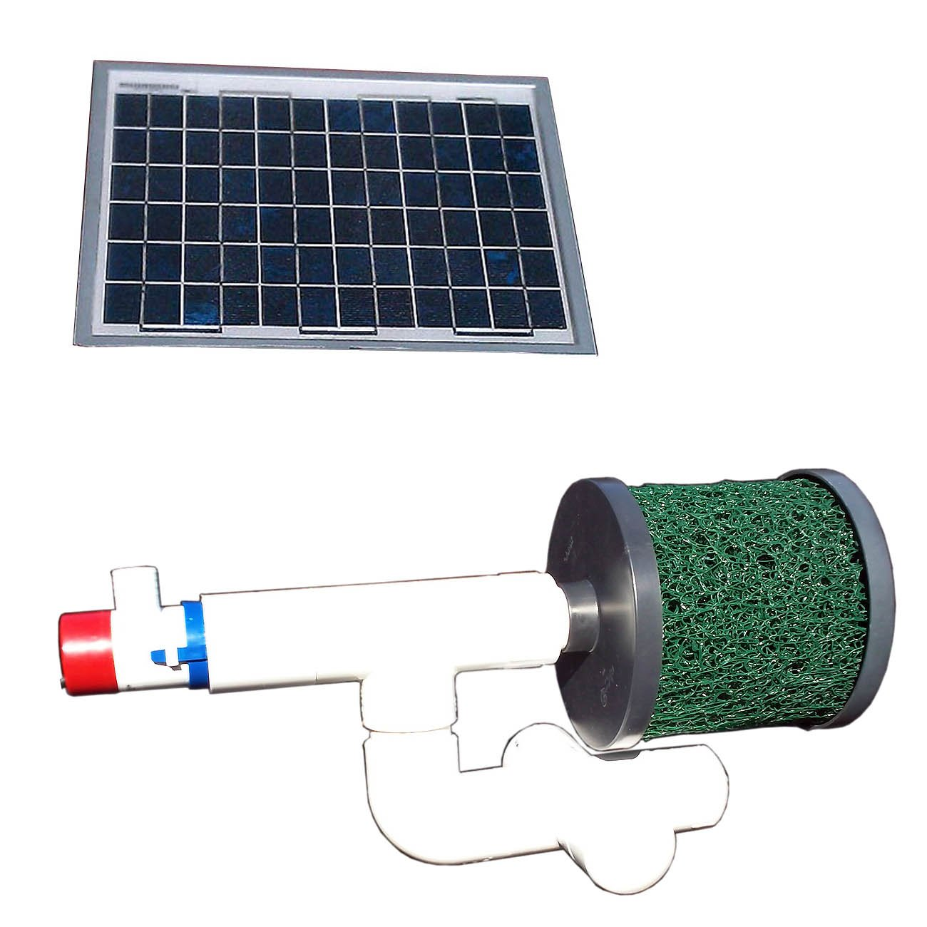 Natural Current Savior Bottom Feeder Pond Solar Pump and Filter System, 20-watt