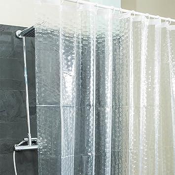 Badewanne Duschvorhang peva duschvorhang halb transparent 3d diamanten motiv badewanne