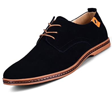 Men Shoes Casual Suede Leather Shoes Mens Loafers Black Oxford Shoes for Men Zapatos Hombre Big